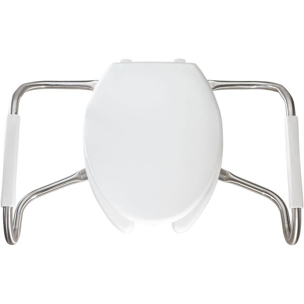Sensational Bemis Ma2150T 000 Medic Aid Plastic Open Front With Cover Toilet Seat With Safety Side Arms And Sta Tite Commercial Fastening System Elongated White Gmtry Best Dining Table And Chair Ideas Images Gmtryco