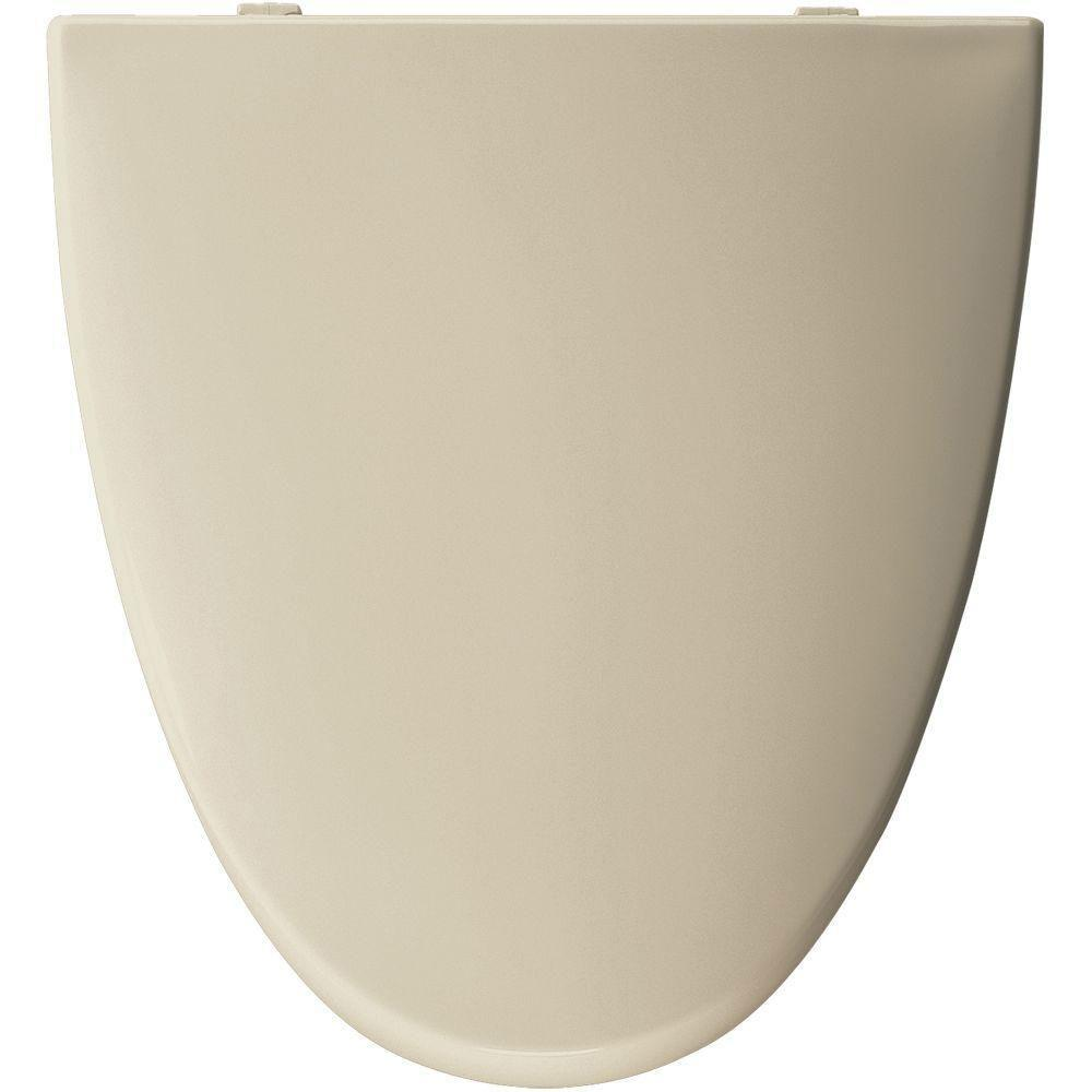 Bemis Church Elongated Closed Front Toilet Seat in Bone 777196