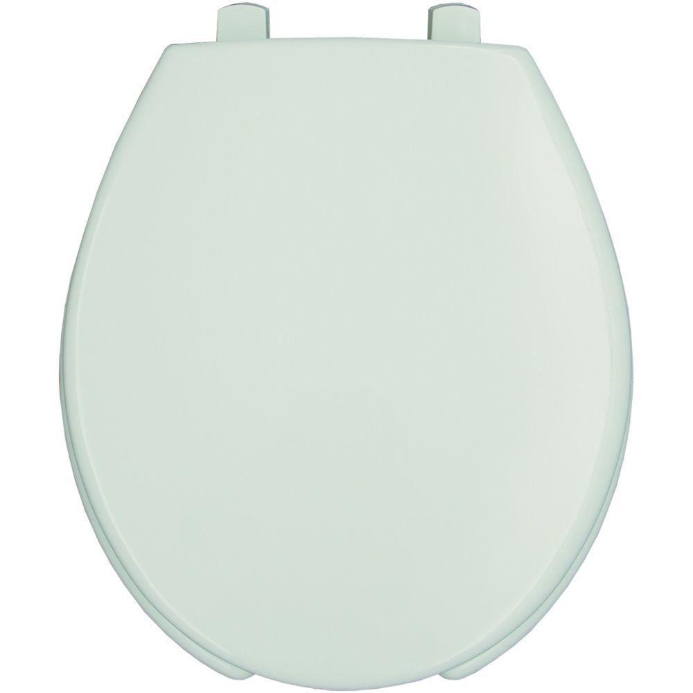 Bemis Lift Elongated Open Front Toilet Seat in White 819145