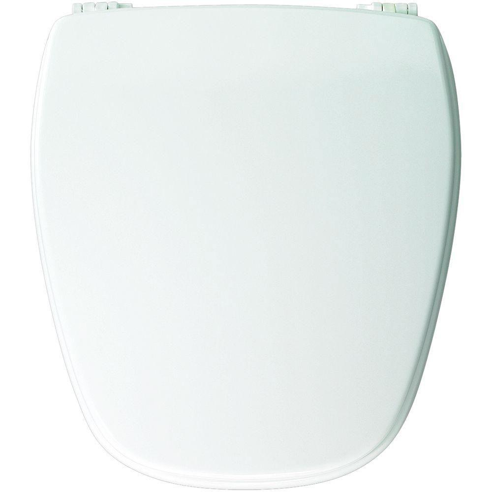 Bemis Church Round Closed Front Toilet Seat in White 819334