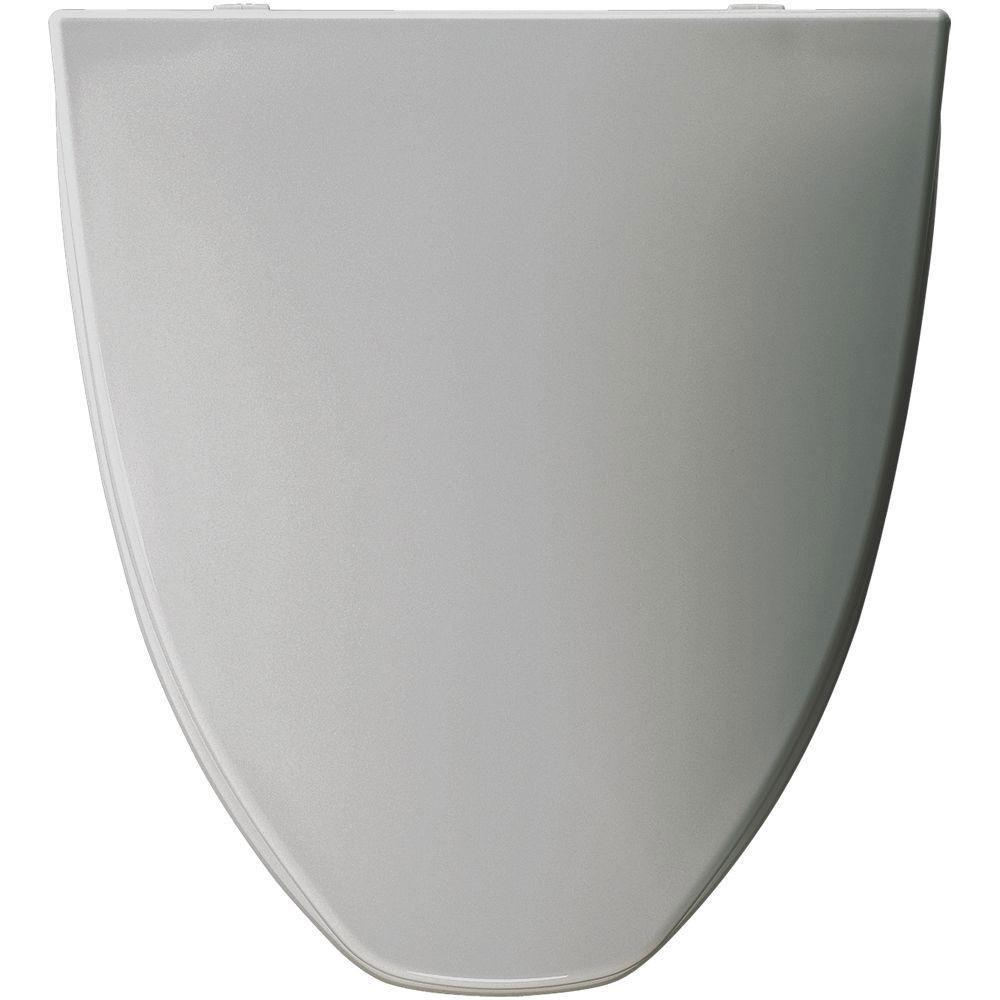 Bemis Elongated Closed Front Toilet Seat in Silver 819397