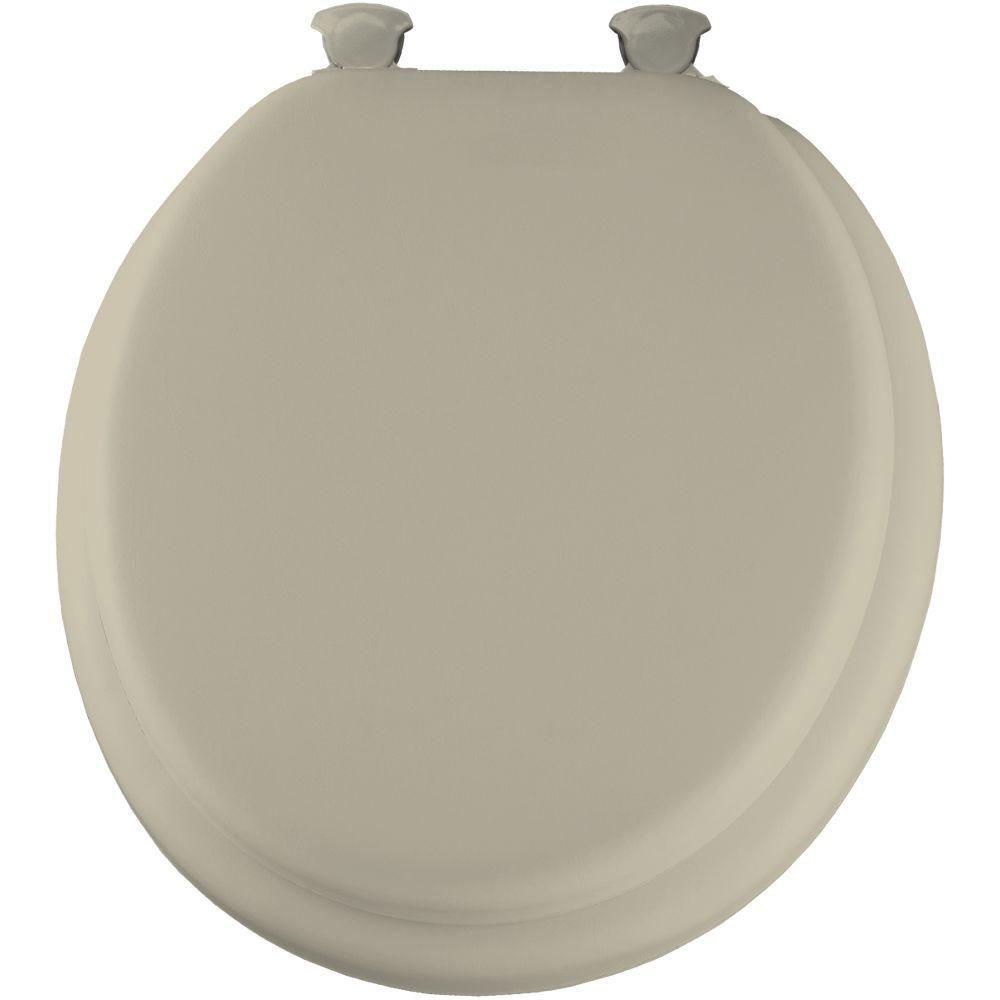 Mayfair Soft Round Closed Front Toilet Seat in Bone 877402