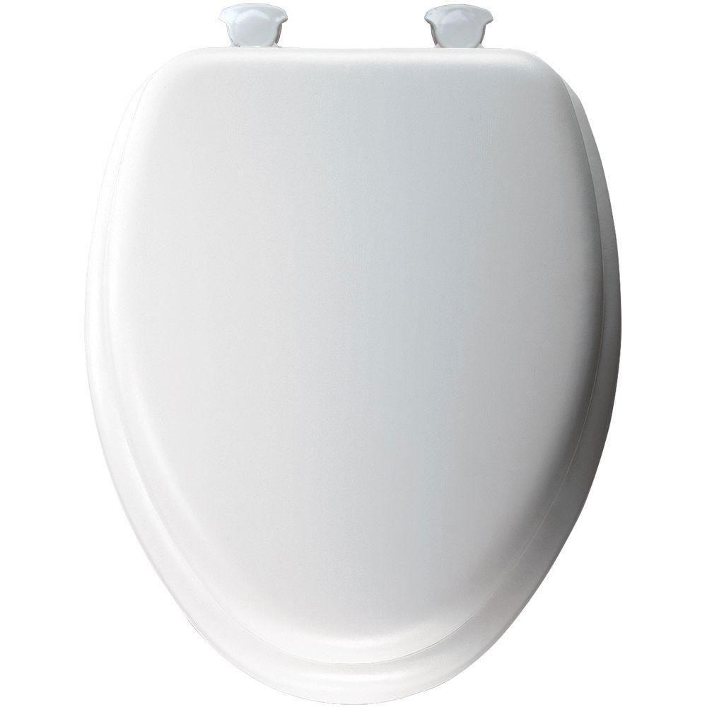 Bemis Soft Elongated Closed Front Toilet Seat in White 877420