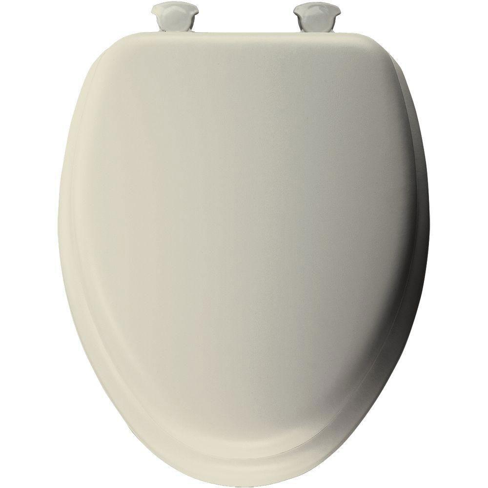 Groovy Mayfair Soft Elongated Closed Front Toilet Seat In Bone 877429 Theyellowbook Wood Chair Design Ideas Theyellowbookinfo