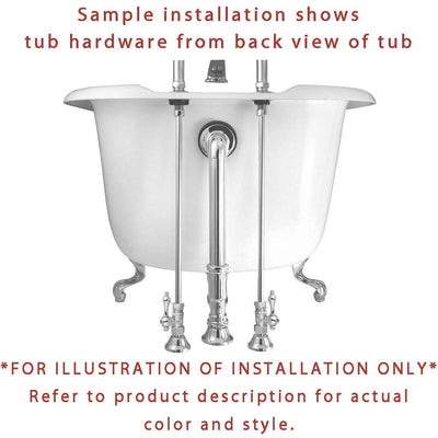 "61"" Clawfoot Tub with Polished Brass Tub Filler and Hardware Package CTP10"