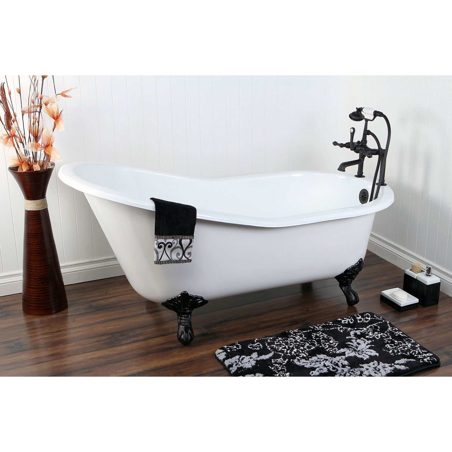 61 Clawfoot Tub With Oil Rubbed Bronze Tub Faucet And Hardware Package Ctp11