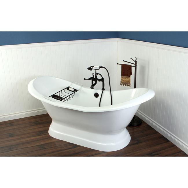 freestanding tub with faucet holes. 72  Freestanding Tub with Oil Rubbed Bronze Faucet Hardware Package CTP20