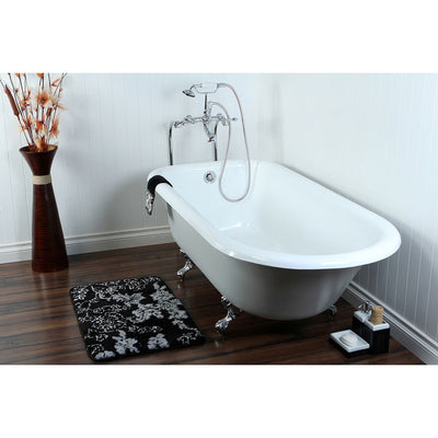 "67"" Clawfoot Tub with Freestanding Chrome Tub Filler & Hardware Package CTP38"