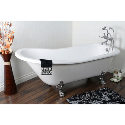"69"" Acrylic Clawfoot Tub with Chrome Tub Filler Faucet & Hardware Package CTP49"