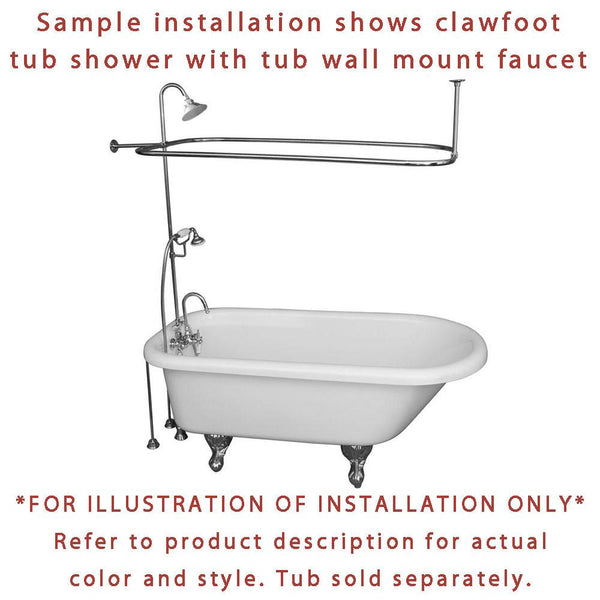 Oil Rubbed Bronze Clawfoot Tub Faucet Shower Kit With