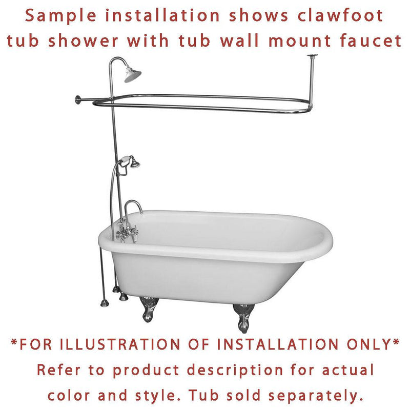 Oil Rubbed Bronze Clawfoot Tub Faucet Shower Kit With Enclosure Curtai