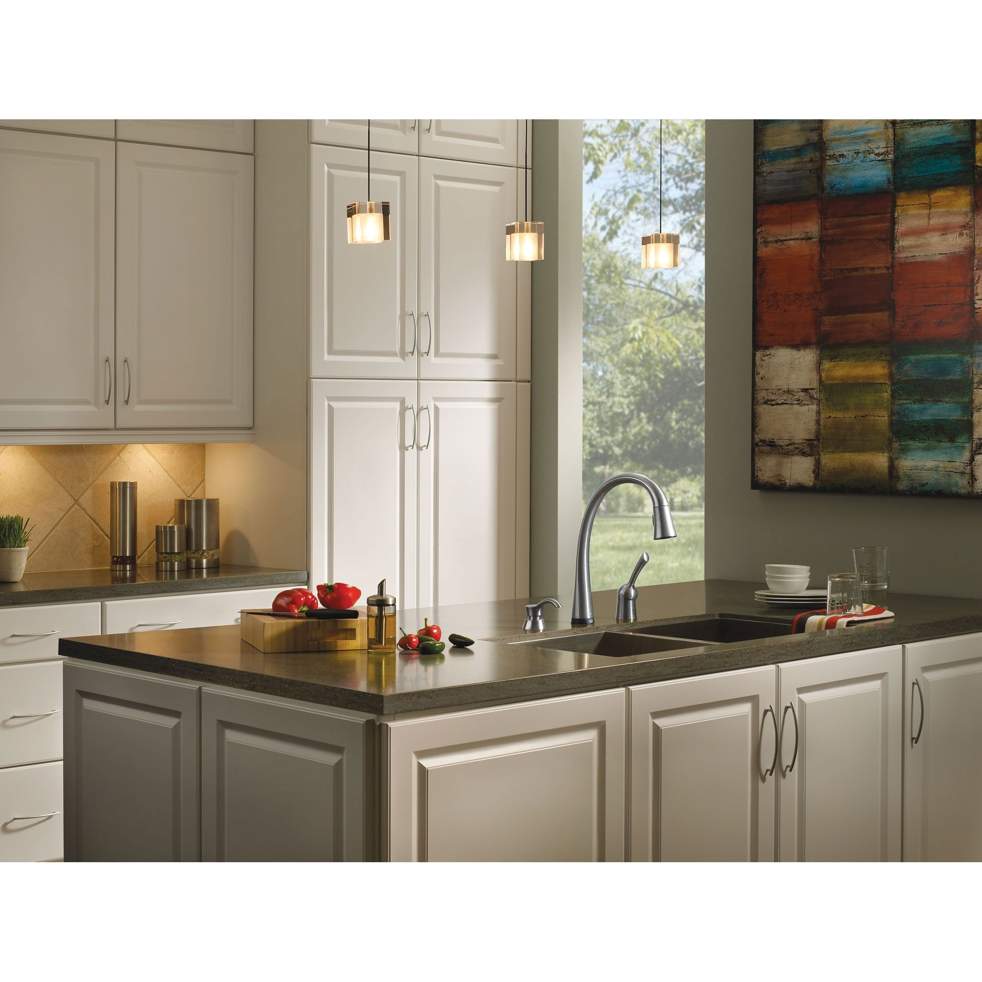 Delta Pilar Kitchen Faucet Delta Arctic Stainless Finish Pilar Collection Single Handle Pull