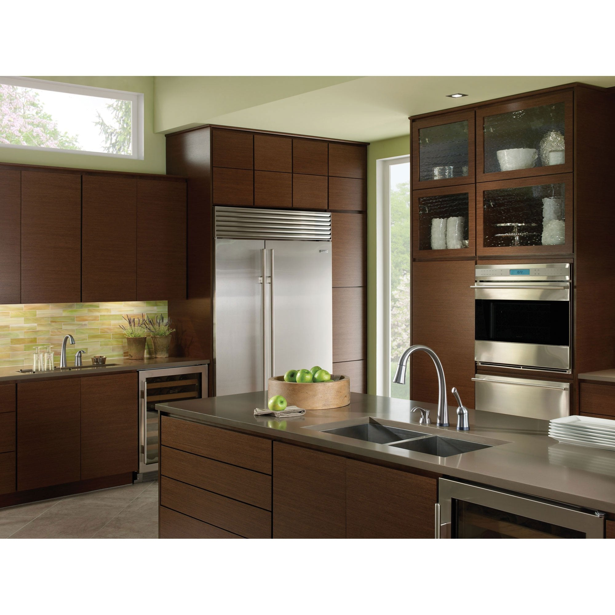 Delta Arctic Stainless Finish Pilar Single Handle Pull Down Kitchen Fa Faucetlist Com
