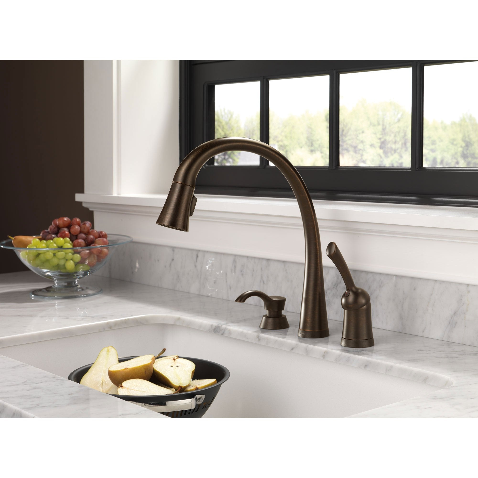 delta pilar single handle pulldown kitchen faucet with Pull Down Faucet Black Kitchen Pull Down Kitchen Faucet Delta Leland
