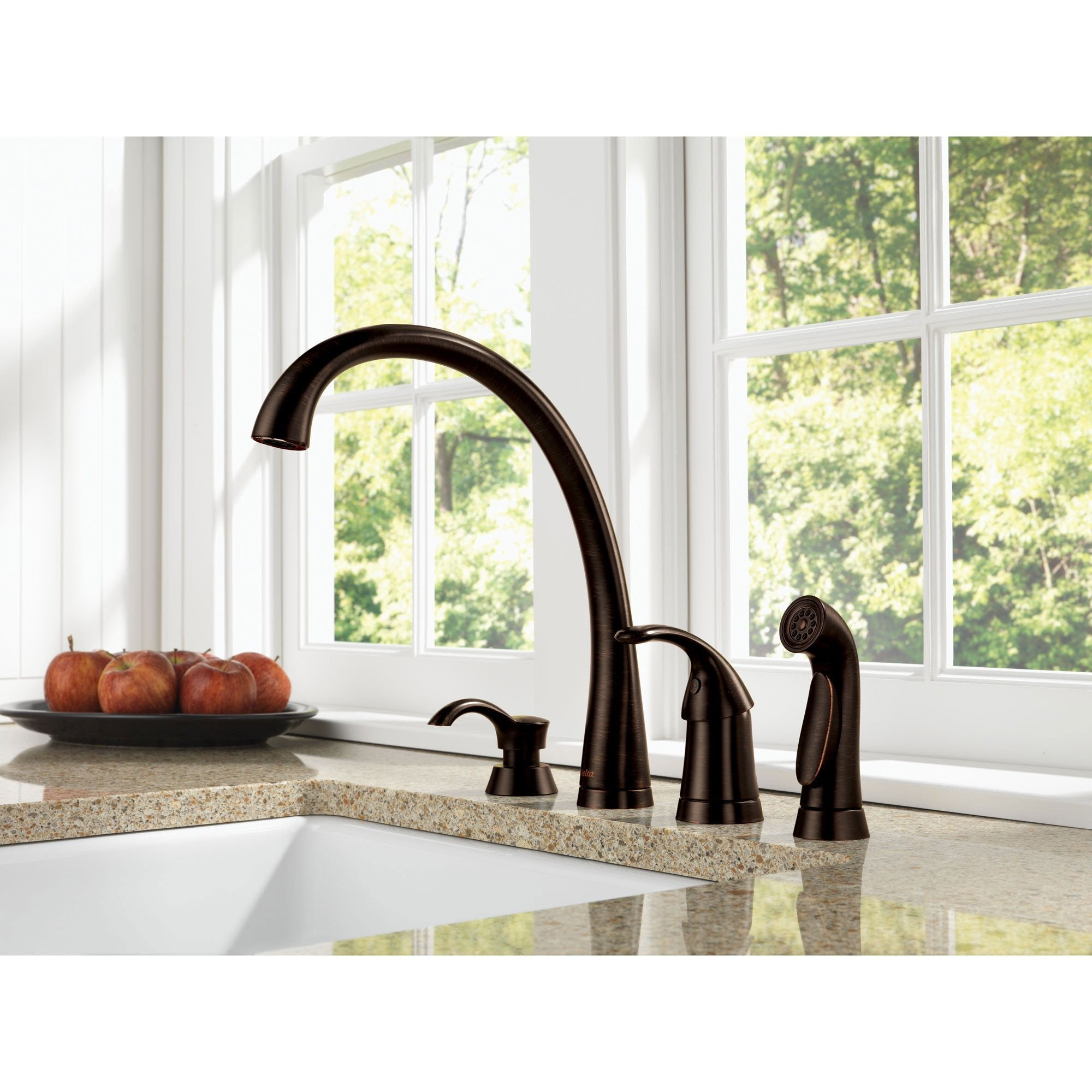 Delta Venetian Bronze Finish Pilar Modern Single Handle Kitchen