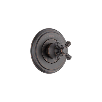 Delta Cassidy Monitor 14 Series Venetian Bronze Finish Pressure Balanced Shower Faucet Control INCLUDES Rough-in Valve and Single Cross Handle D1246V