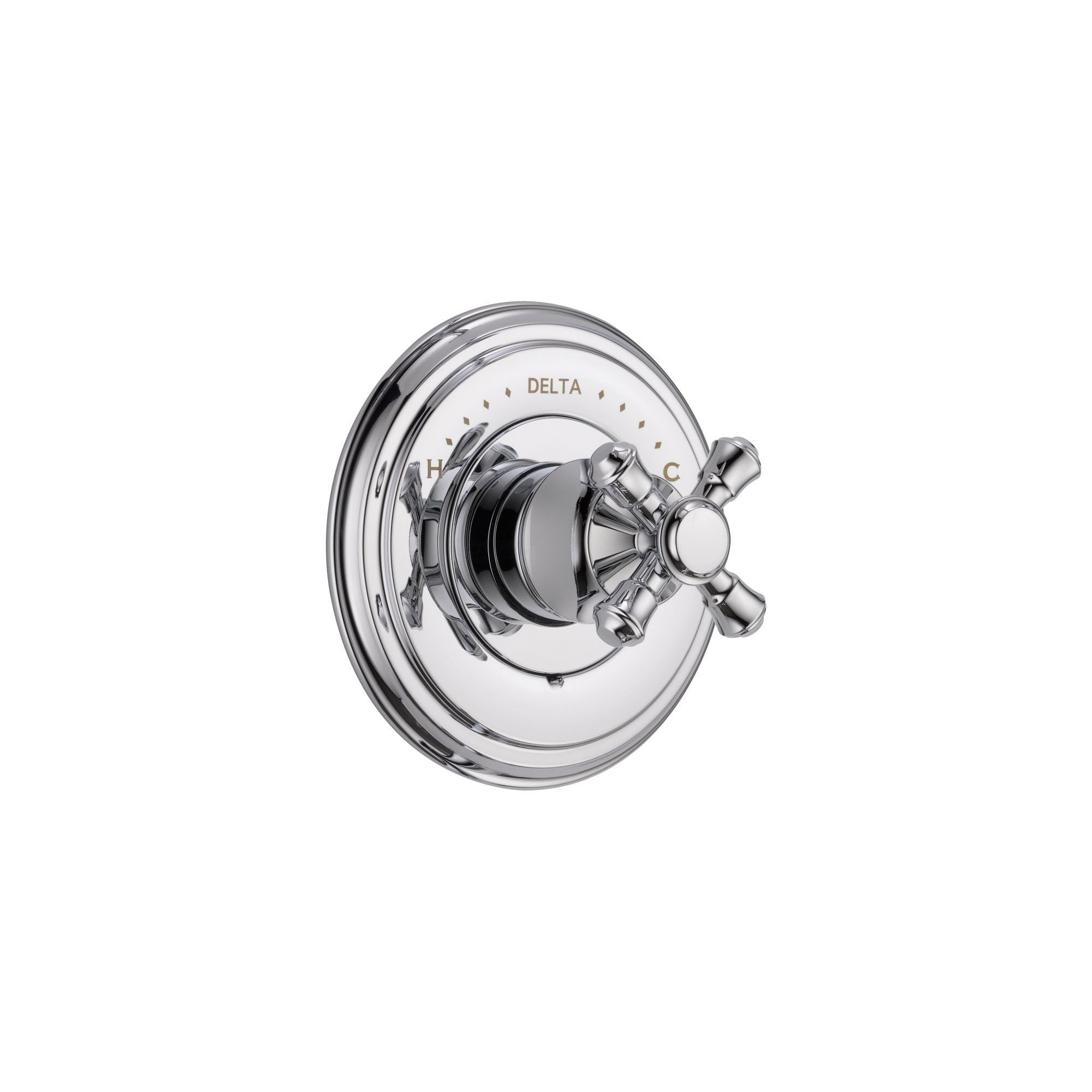 Delta Cassidy Monitor 14 Series Chrome Finish Pressure Balanced Shower Faucet Control INCLUDES Rough-in Valve with Stops and Single Cross Handle D1251V