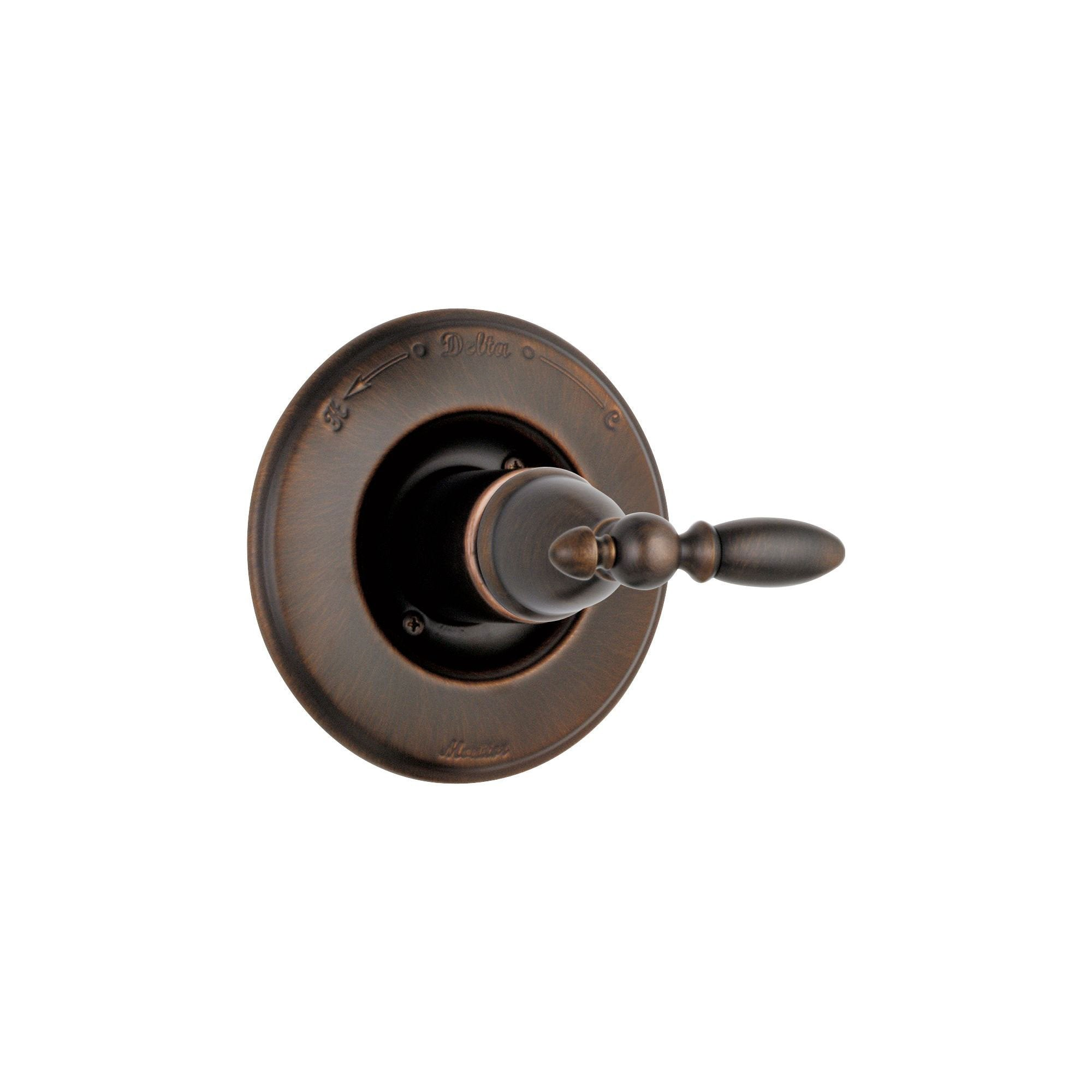 Delta Victorian Monitor 14 Series Venetian Bronze Finish Pressure Balanced Shower Faucet Control INCLUDES Rough-in Valve with Stops and Single Lever Handle D1265V