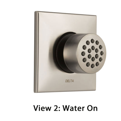 Delta Stainless Steel Finish HydraChoice Touch Clean Square Shower System Body Spray COMPLETE Includes Valve, Trim, and Spray D1353V