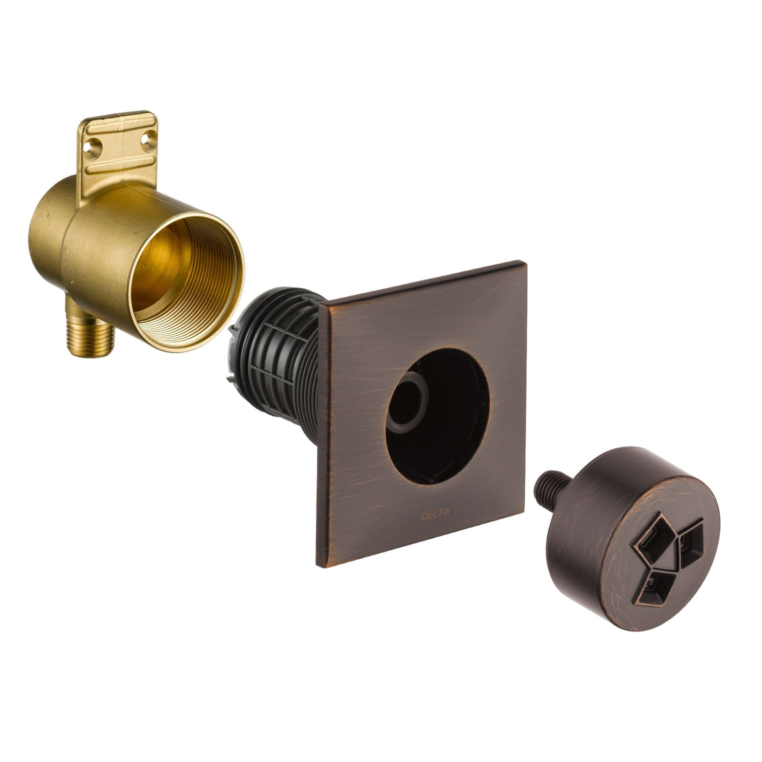 Delta Venetian Bronze Finish HydraChoice Invigorating H2Okinetic Square Shower System Body Spray COMPLETE Includes Valve, Trim, and Spray D1359V