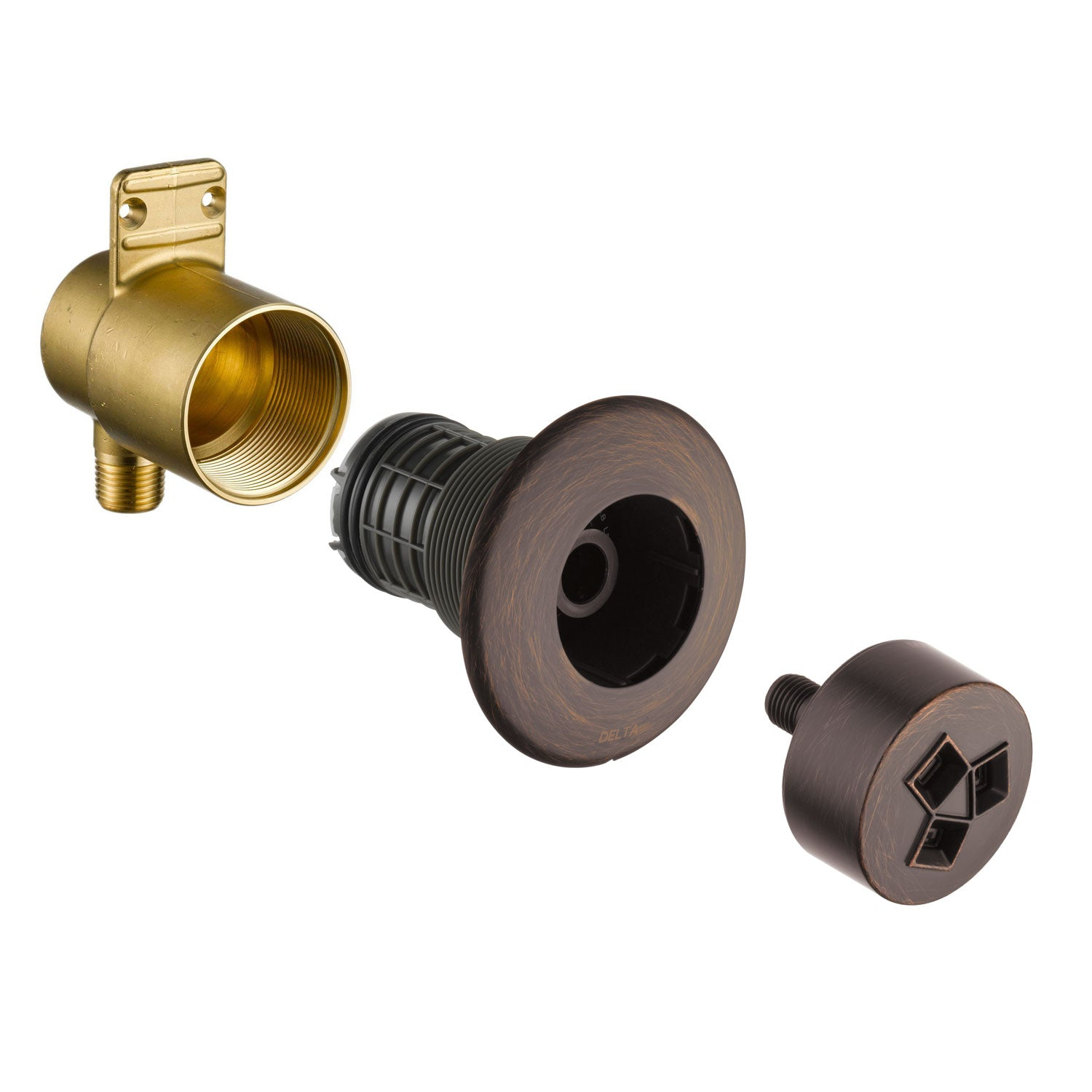 Delta Venetian Bronze Finish HydraChoice Invigorating H2Okinetic Round Shower System Body Spray COMPLETE Includes Valve, Trim, and Spray D1375V