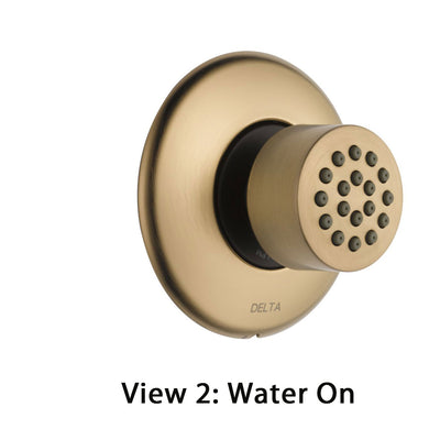 Delta Champagne Bronze Finish HydraChoice Touch Clean Round Shower System Body Spray COMPLETE Includes Valve, Trim, and Spray D1382V