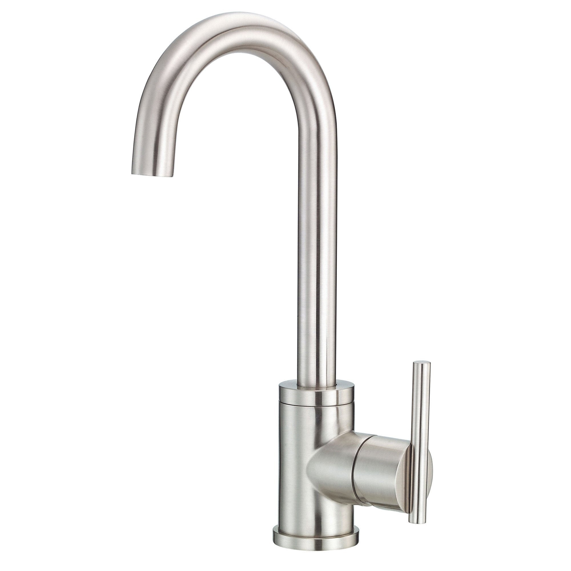 Danze Parma Stainless Steel Single Side Lever Handle Bar Faucet