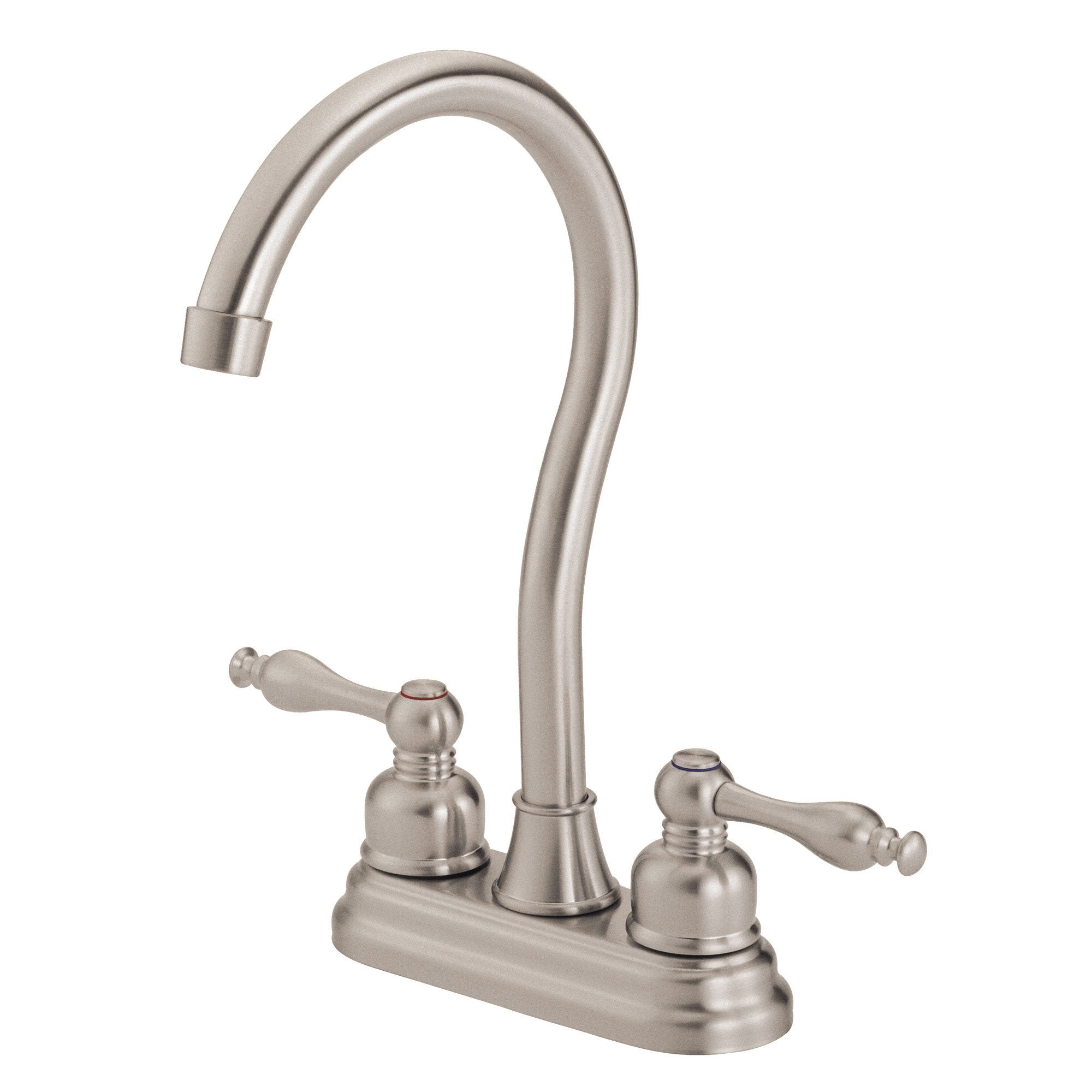 Danze Sheridan Stainless Steel Finish 2 Lever Handle Bar Faucet