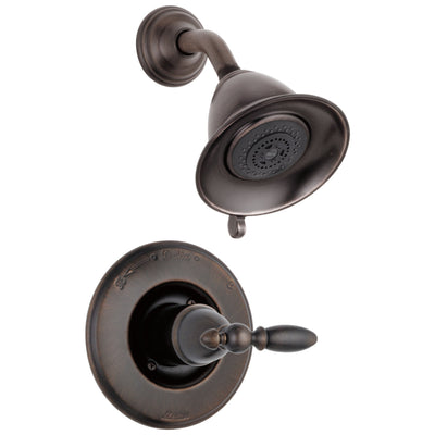 Delta Victorian Collection Venetian Bronze Traditional Style Monitor 14 Shower Faucet INCLUDES Single Lever Handle and Rough-Valve without Stops D1556V