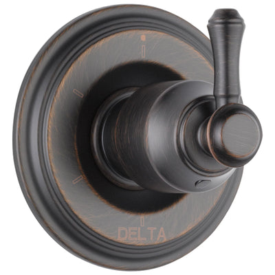 Delta Cassidy Collection Venetian Bronze Finish 6-Setting 3-Port Shower Diverter INCLUDES Single Lever Handle and Rough-in Valve D1687V
