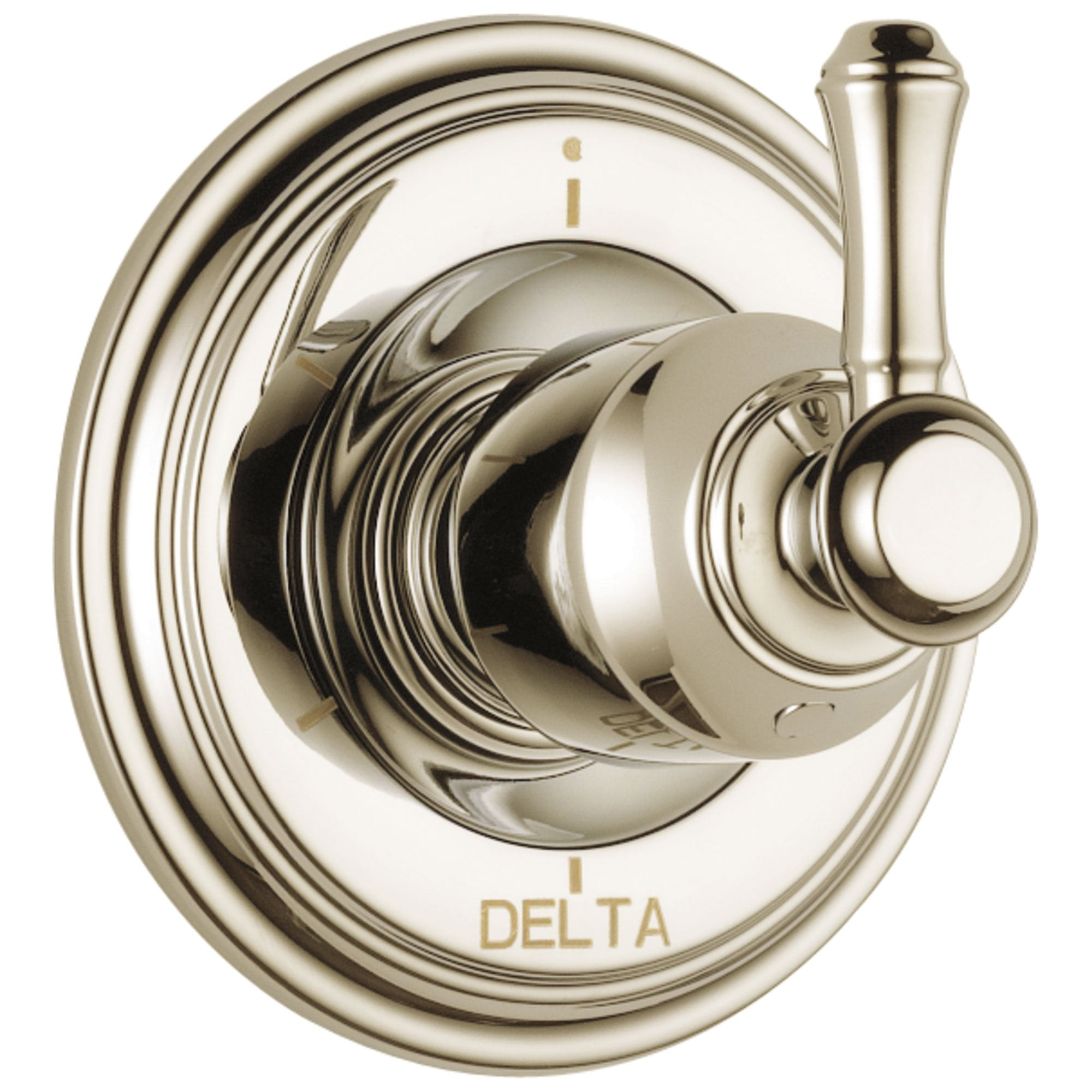 Delta Cassidy Collection Polished Nickel Finish 6-Setting 3-Port Shower Diverter INCLUDES Single Lever Handle and Rough-in Valve D1690V