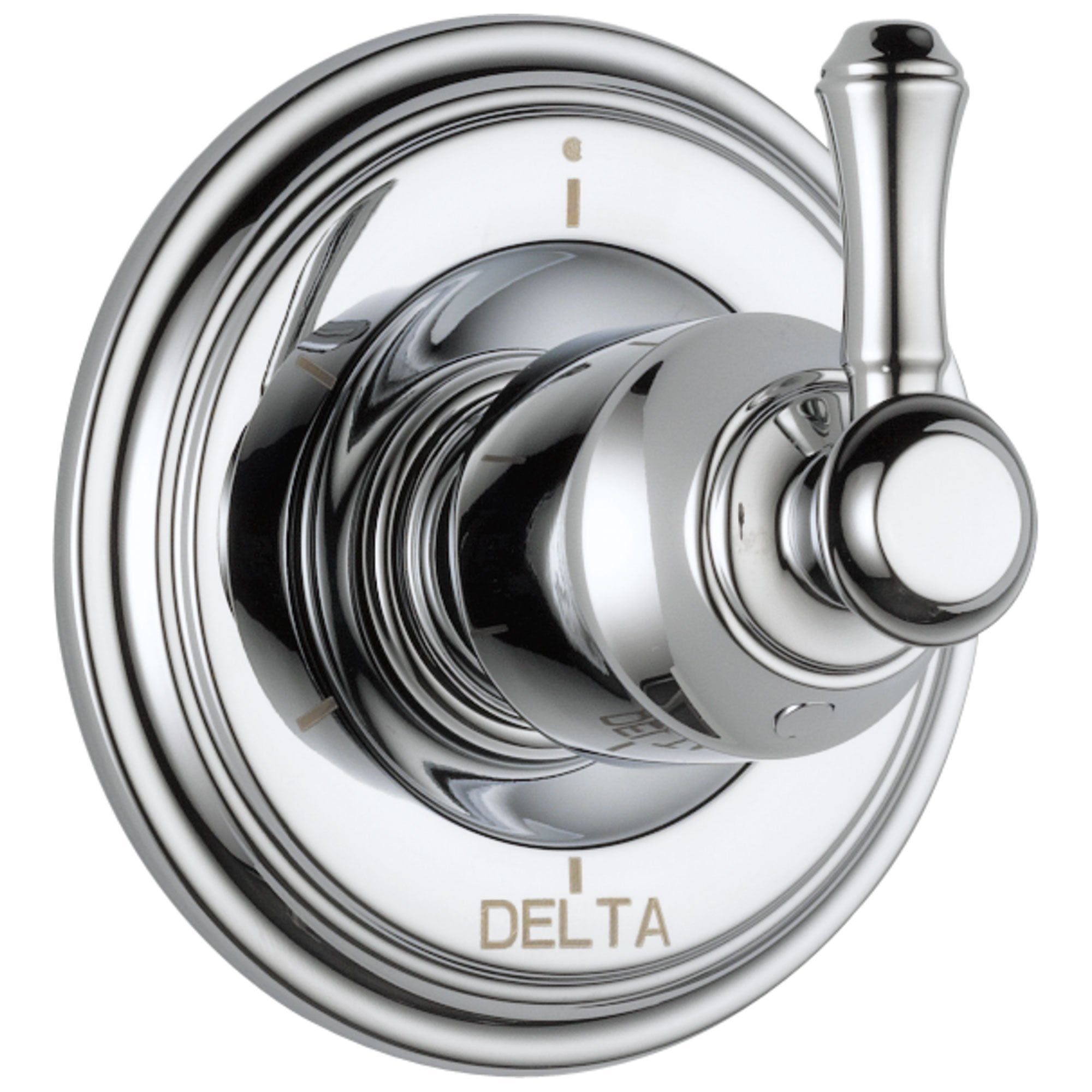 Delta Cassidy Collection Chrome Finish 6-Setting 3-Port Shower Diverter INCLUDES Single Lever Handle and Rough-in Valve D1693V