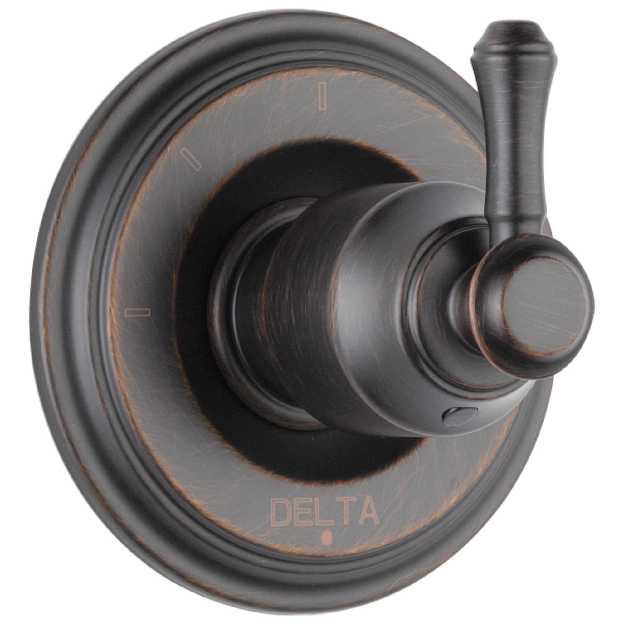 Delta Cassidy Collection Venetian Bronze Finish 3-Setting 2-Port Shower Diverter INCLUDES Single Lever Handle and Rough-in Valve D1700V