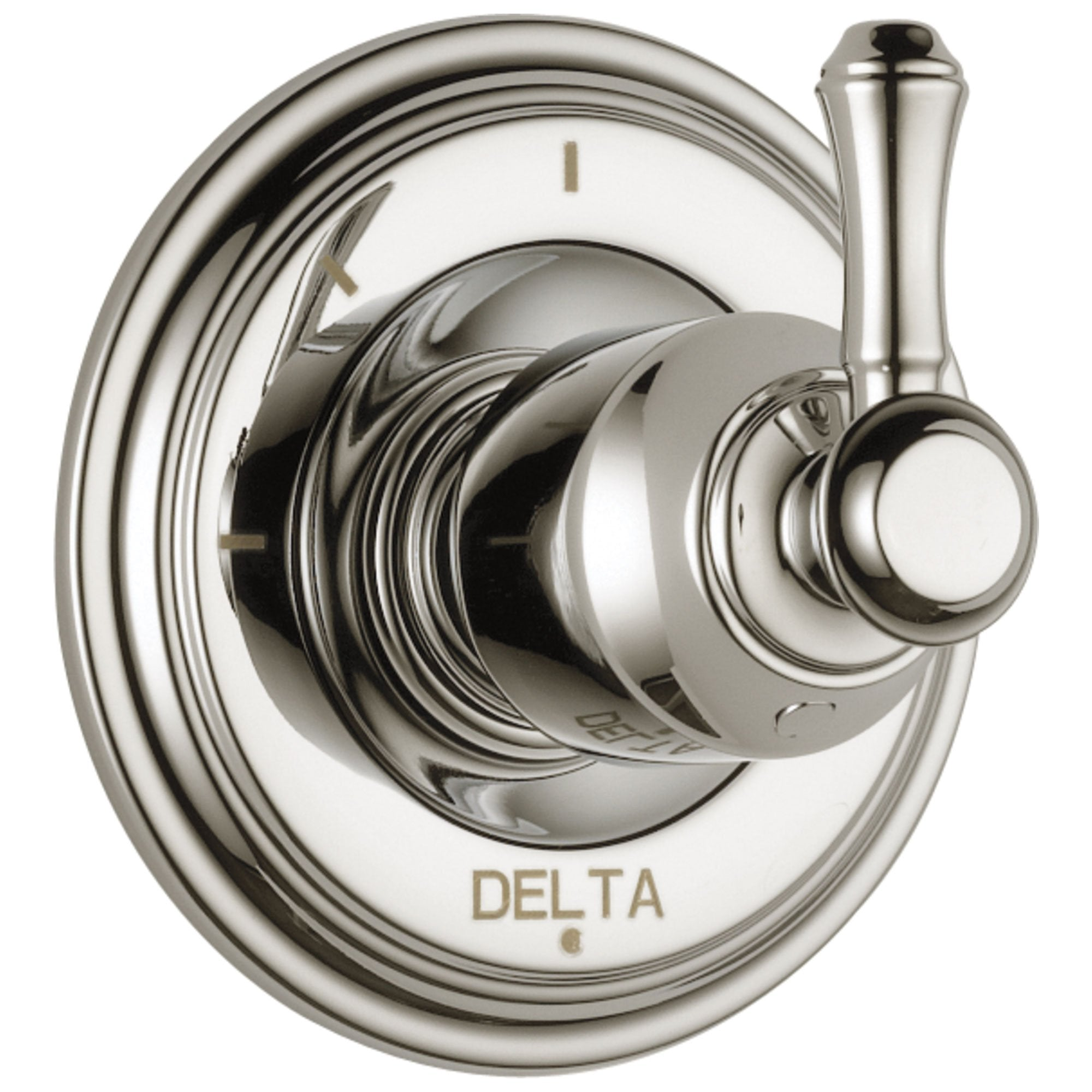 Delta Cassidy Collection Polished Nickel Finish 3-Setting 2-Port Shower Diverter INCLUDES Single Lever Handle and Rough-in Valve D1703V