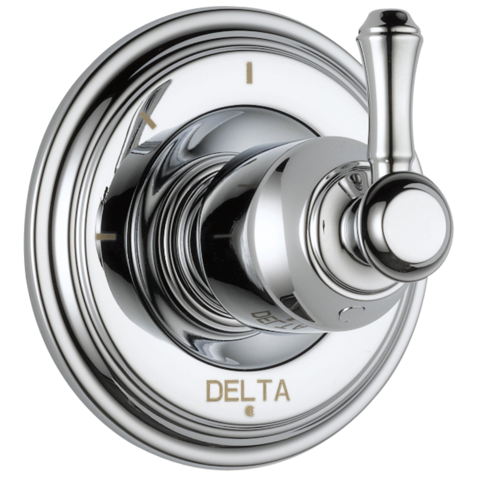 Delta Cassidy Collection Chrome Finish 3-Setting 2-Port Shower Diverter INCLUDES Single Lever Handle and Rough-in Valve D1706V