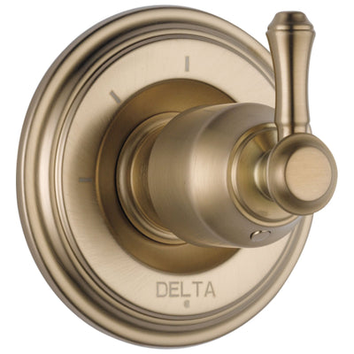 Delta Cassidy Collection Champagne Bronze Finish 3-Setting 2-Port Shower Diverter INCLUDES Single Lever Handle and Rough-in Valve D1709V
