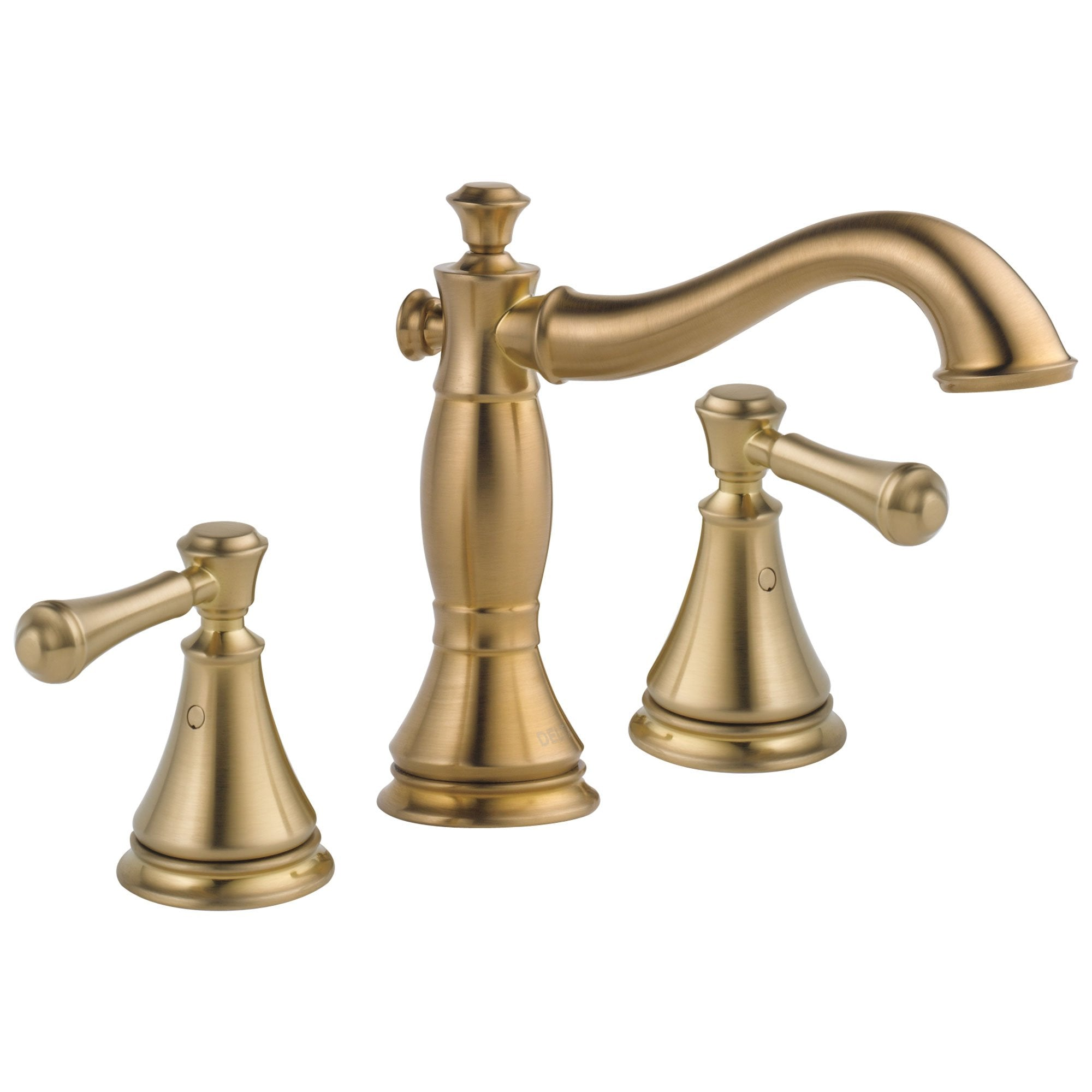 Delta Cassidy Collection Champagne Bronze Widespread Lavatory Bathroom Sink Faucet INCLUDES Two Lever Handles and Metal Pop-Up Drain D1784V