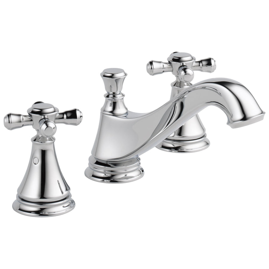 Delicieux Delta Cassidy Collection Chrome Finish Traditional Low Spout Widespread Bathroom  Sink Faucet INCLUDES Two Cross Handles