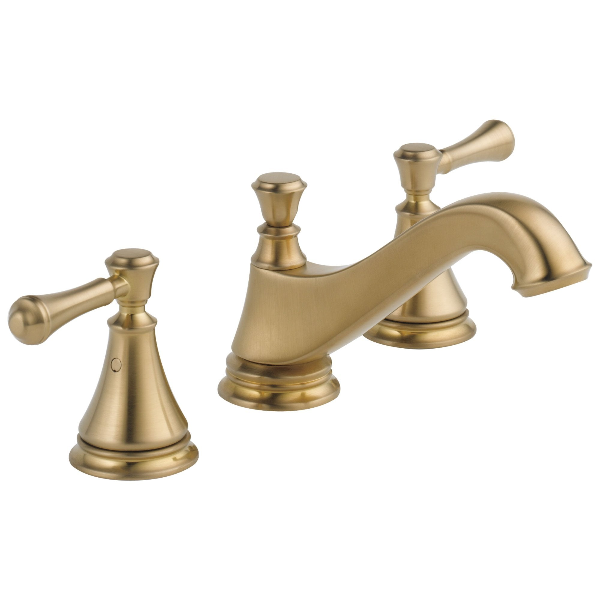Delta Cassidy Collection Champagne Bronze Traditional Low Spout Widespread Bathroom Sink Faucet INCLUDES Two Lever Handles and Drain D1799V