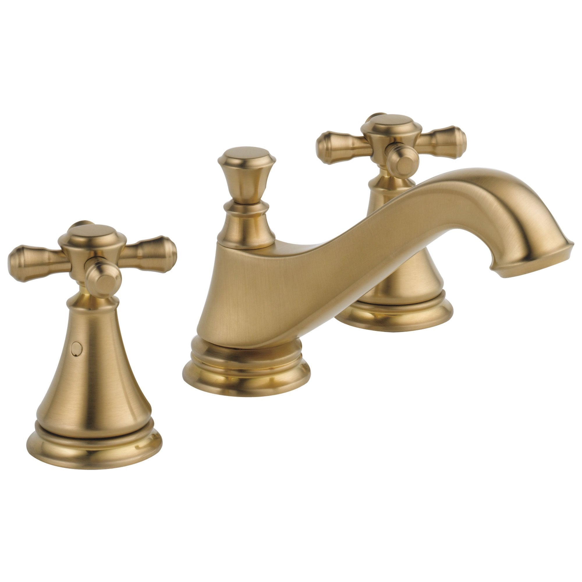 Delta Cassidy Collection Champagne Bronze Traditional Low Spout Widespread Bathroom Sink Faucet INCLUDES Two Cross Handles and Drain D1801V