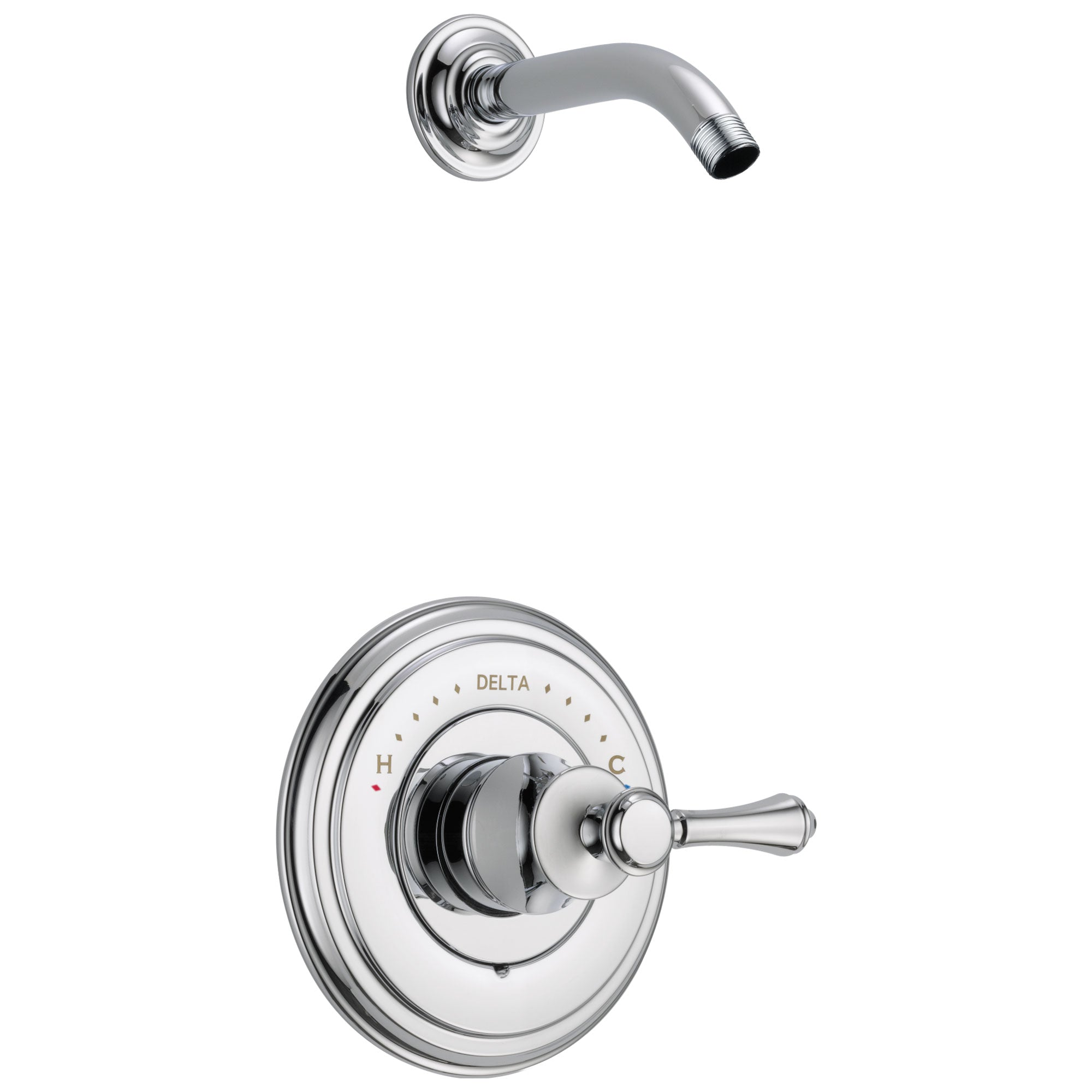 Delta Cassidy Collection Chrome Monitor 14 Shower only Faucet - Less Showerhead INCLUDES Single Lever Handle and Rough-in Valve without Stops D1833V