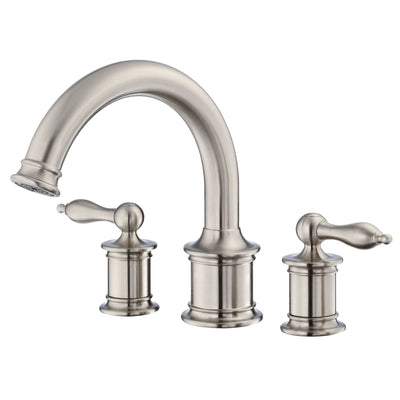 Danze Prince Brushed Nickel High Volume Roman Bath Tub Filler Faucet INCLUDES Rough-in Valve