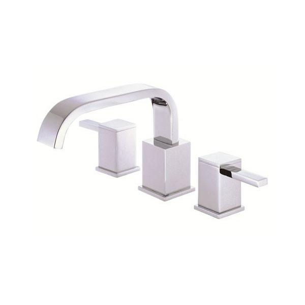 Danze Reef Chrome Danze High Volume Widespread Roman Tub Filler Faucet INCLUDES Rough-in Valve