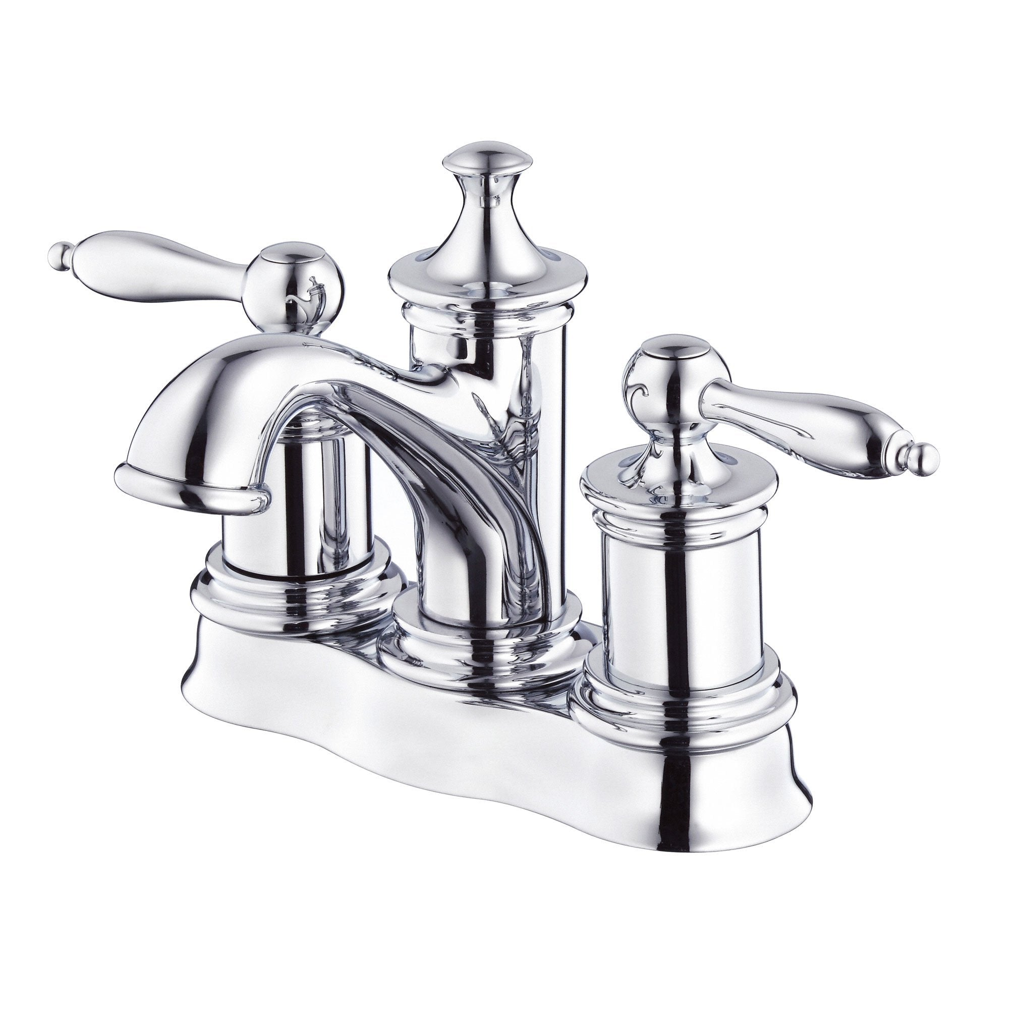 Danze Prince Chrome Centerset Bathroom Sink Faucet with Touch Drain