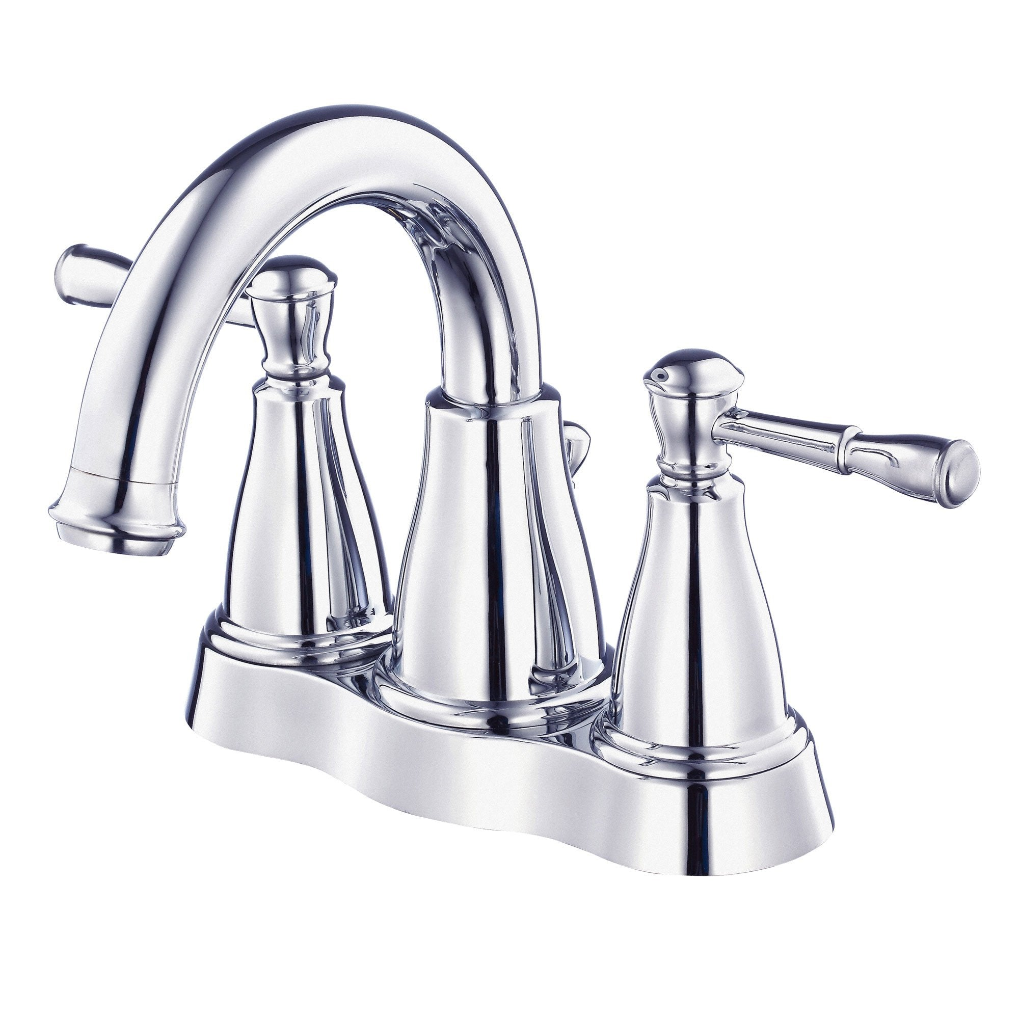 "Danze Eastham Chrome Wavy Handle 4"" Centerset Bathroom Faucet with Pop-up Drain"
