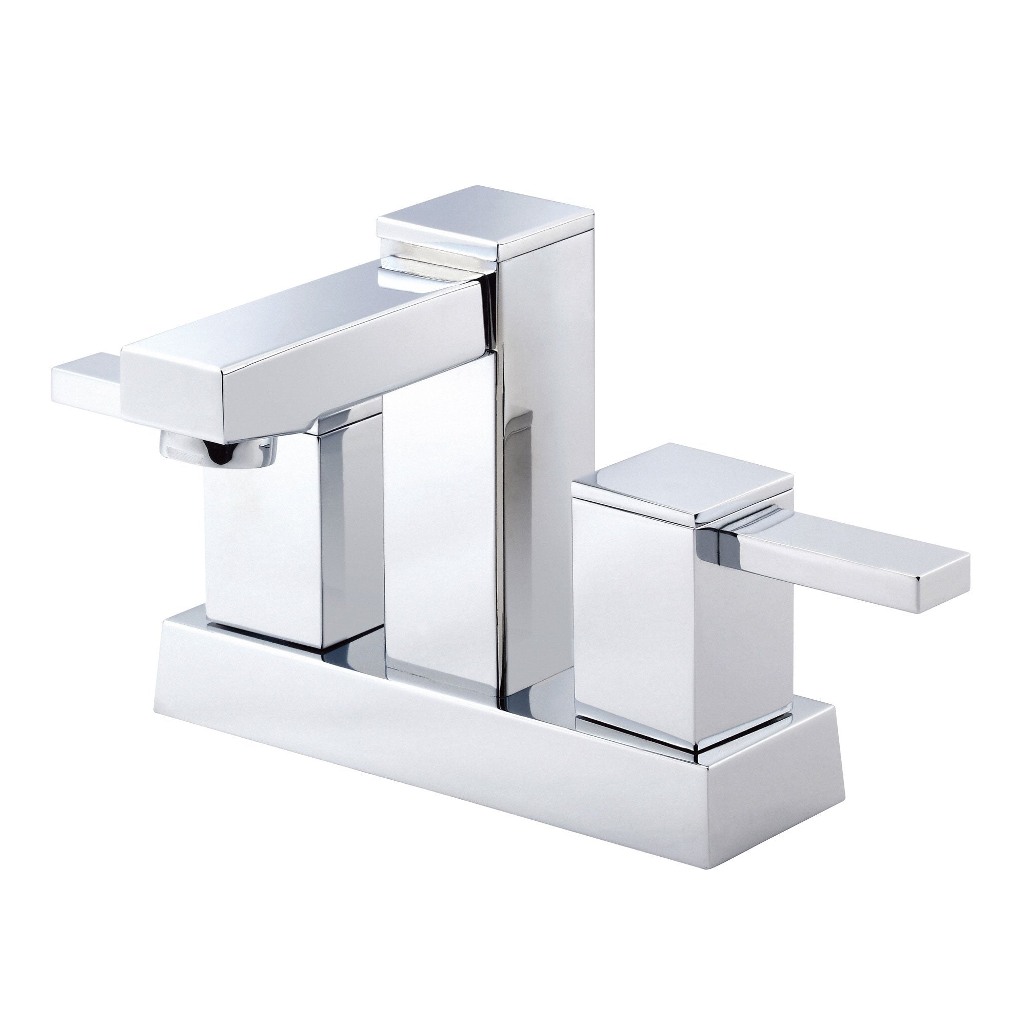 "Danze Reef Chrome Square Modern 4"" Centerset Bathroom Faucet w/ Pop-up Drain"