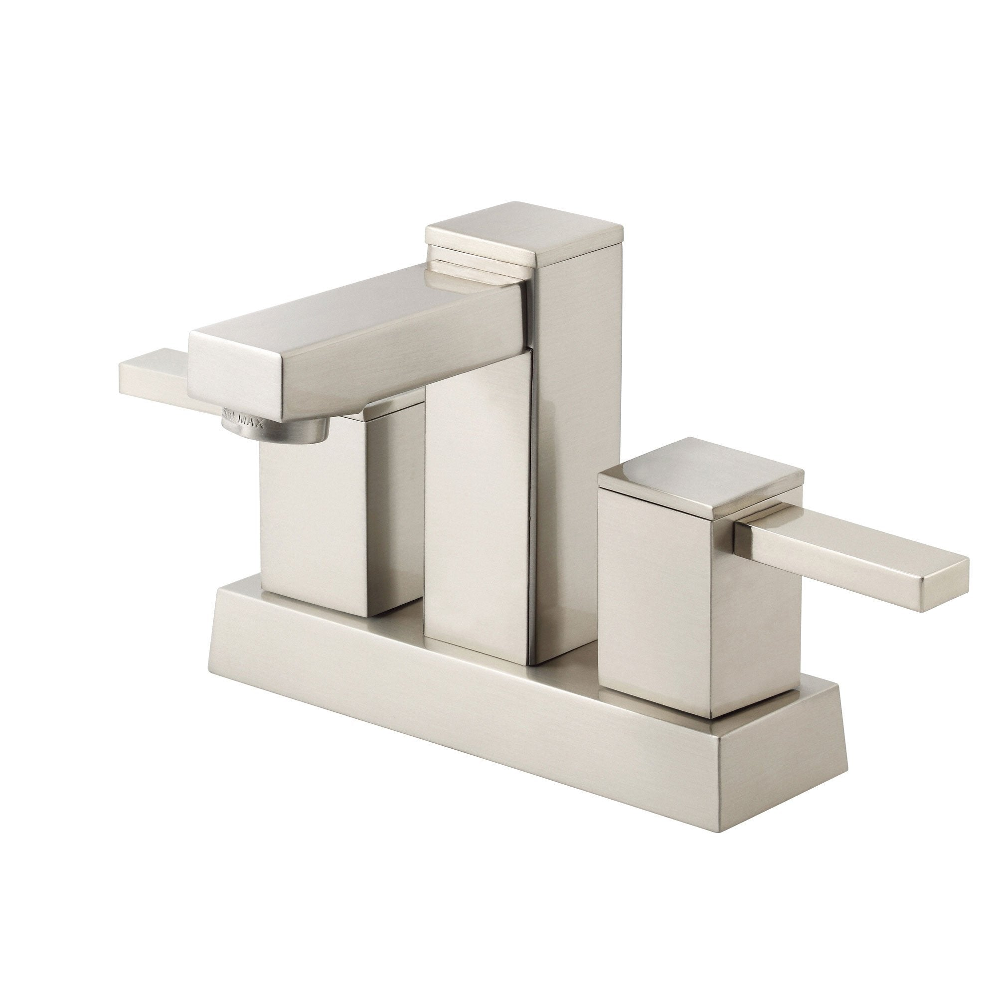 "Danze Reef Brushed Nickel Square Modern 4"" Centerset Bathroom Faucet w/ Drain"