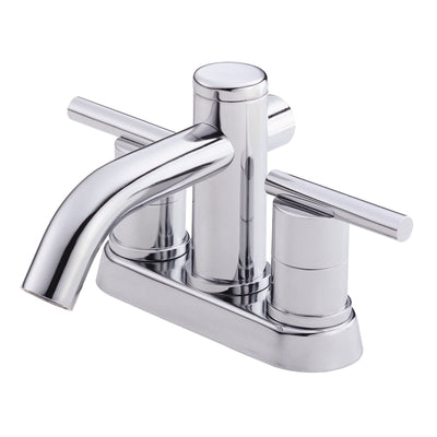 Danze Parma Chrome 2 Cylindrical Handle Centerset Bathroom Sink Faucet