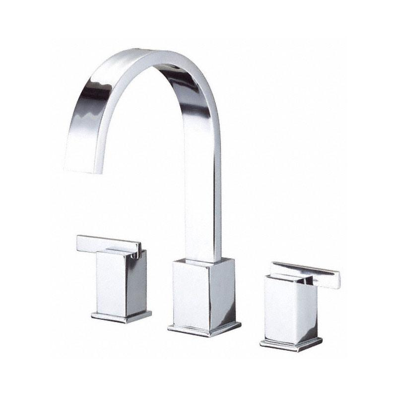 Danze Sirius Chrome Modern 2 handle Widespread Roman Tub Filler Faucet INCLUDES Rough-in Valve