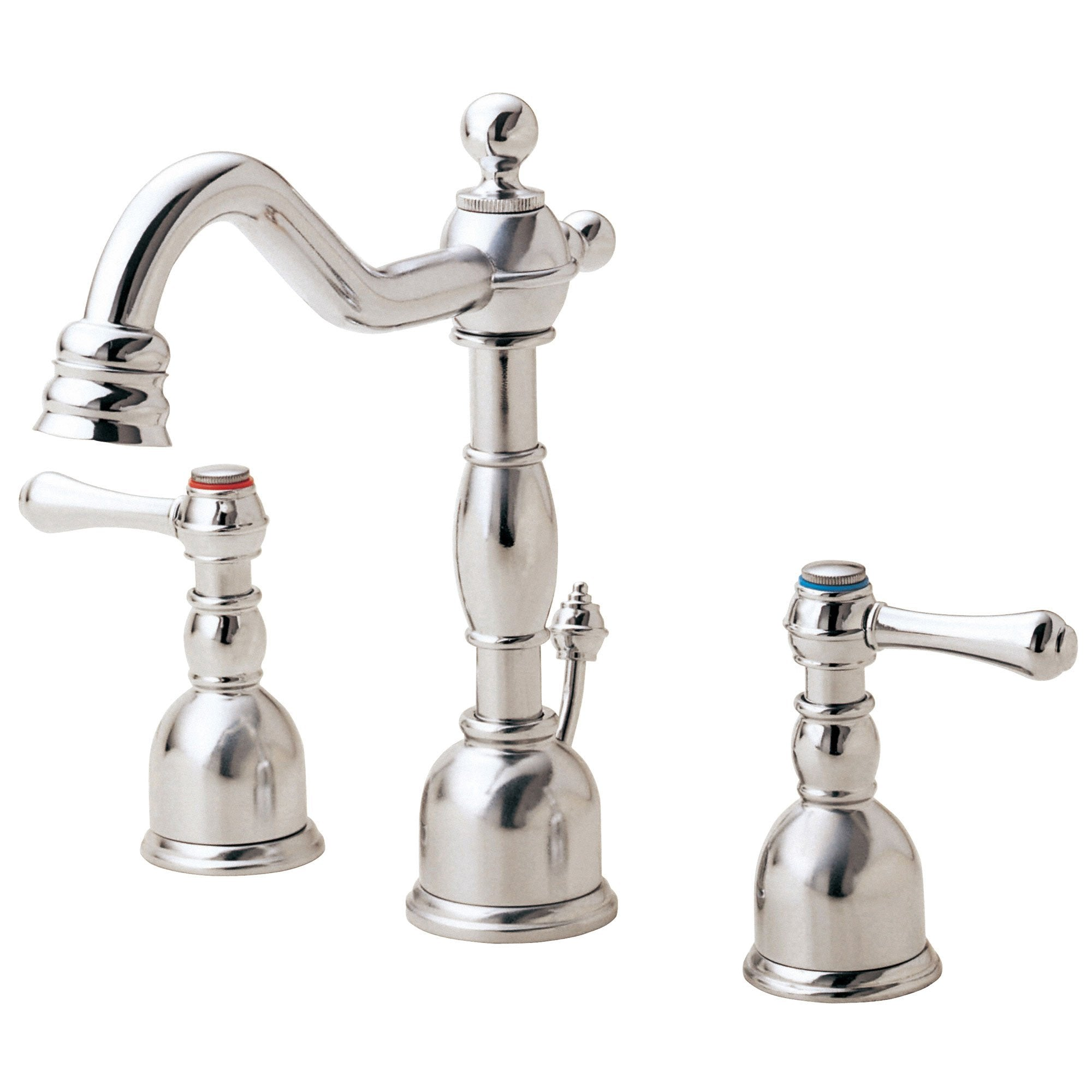 Danze Opulence Polished Nickel Traditional Mini-Widespread Bathroom Sink Faucet